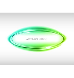 abstract circle on white green vector image vector image