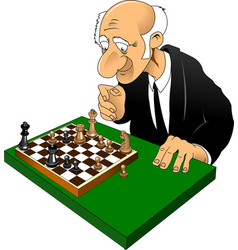 chess master vector image vector image