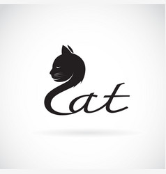 design cat is text on a white background pet vector image vector image