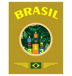 Digital abstract winner sportman brasil vector image