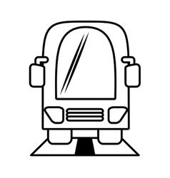 outline bus vehicule public transport vector image