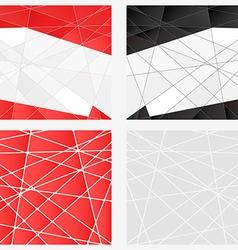 polygon background set vector image