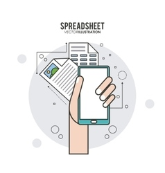Spreadsheet design business and infographic vector image vector image