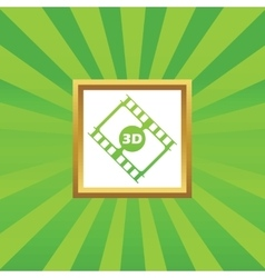 3D movie picture icon vector
