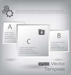 3d paper square elements for infographic vector image