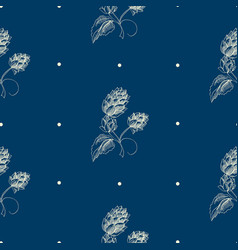 Abstract natural hand drawn seamless pattern vector