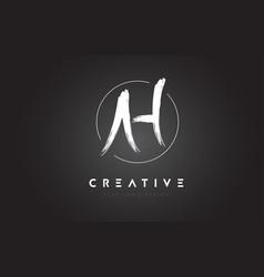ah brush letter logo design artistic handwritten vector image