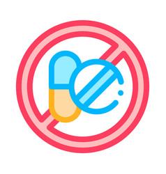allergen free sign medicine thin line icon vector image