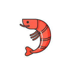 Allergy on seafood isolated icon of allergen vector