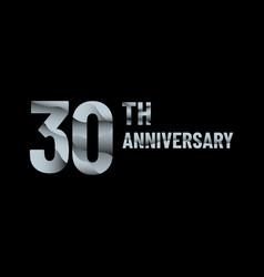 Anniversary 30th paper cut vector
