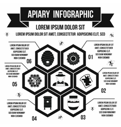 Apiary infographic simple style vector image