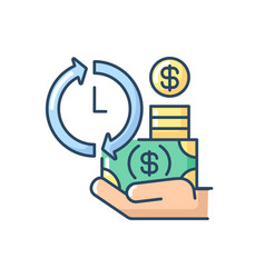 Apply for loans rgb color icon vector