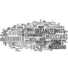 Are you an organized drummer text word cloud vector