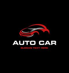 auto speed car tuning industrial modern logo vector image