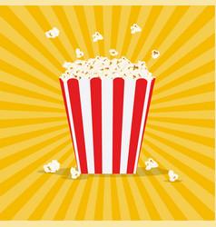 Bag popcorn vector