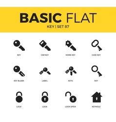 Basic set of key icons vector