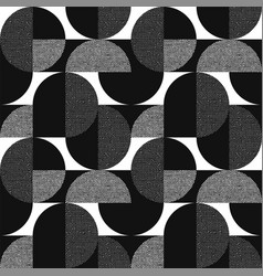 Black and white geometric modern seamless pattern vector