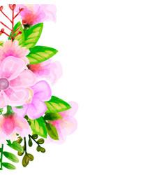 Bouquet watercolor flower floral set colorful vector