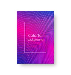 bright neon cover vector image