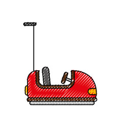Bumper cars carnival game vector