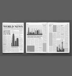 business newspaper template financial news vector image