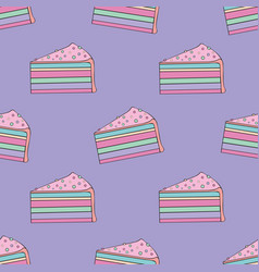Cakes seamless pattern for design vector