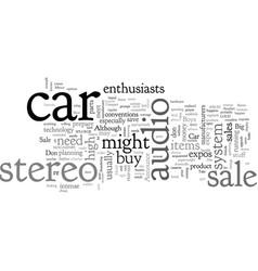 Car stereo sale vector