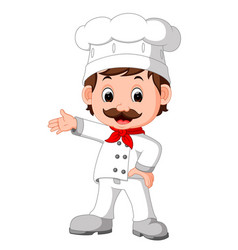 cartoon funny chef good posing vector image