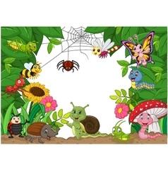 Cartoon happy little animals vector image