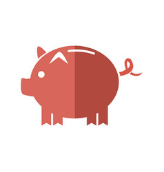 cartoon piggy money security bank icon vector image