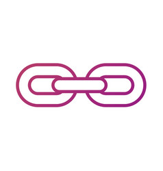 Chain links connection strong hyperllink icon vector