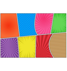 Comic colorful horizontal composition vector