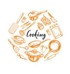 cooking concept kitchen tools 1 vector image