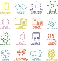 Customer relationship management icons - part 3 vector