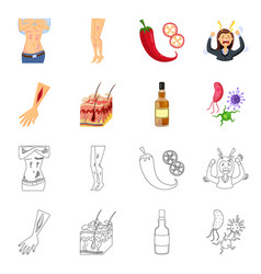 Design of medical and pain icon collection vector