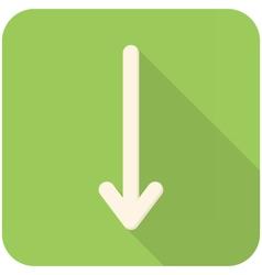 Down arrow icon vector image