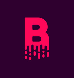 dripping logo letter b vector image