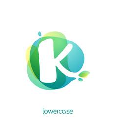 ecology lowercase letter k logo overlapping vector image