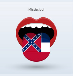 Electoral vote of mississippi abstract mouth vector