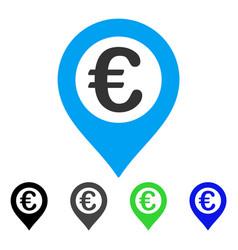 Euro pushpin flat icon vector