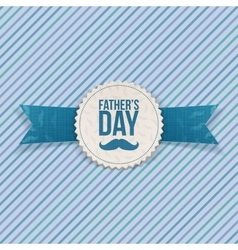 Fathers Day festive Banner with Ribbon and Text vector image