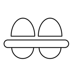 fresh eggs icon outline style vector image