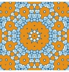 Geometric ethnic oriental ikat-like seamless vector