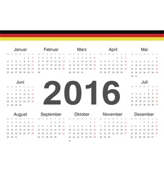 German circle calendar 2016 vector