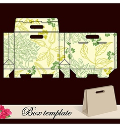 Gift box template vector image