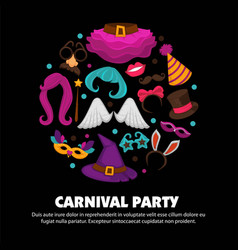 Great carnival party advertisement banner with vector