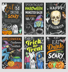 halloween holiday trick or treat party banner vector image