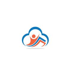 happy man document business logo vector image
