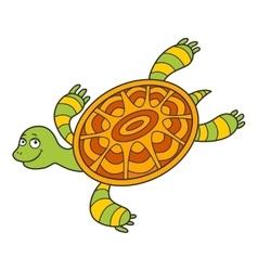 Happy sea turtle cartoon vector image