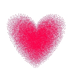 Heart drawn with stipple brush and polka-dots vector